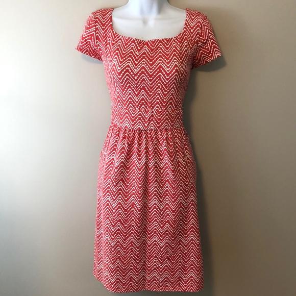 J. McLaughlin Dresses & Skirts - J. McLaughlin Emma Dress Red and White Medium